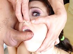 Amazing Deep Throat Work Performed By A Horny Slut