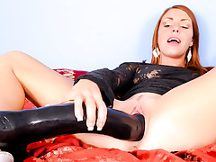 Lovely Scarlett Wild Is Sliding A Gigantic Toy In Her Pussy!