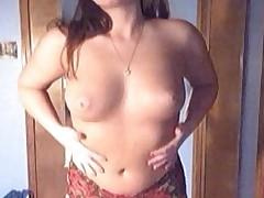 Dru shows off her puffy nips