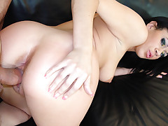 Ebony whore loves to have her pussy creampied by white studs