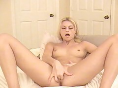 Amber spreads her legs