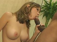 Nice Looking Brunette Enjoys Fucking A Big Black Hard Cock
