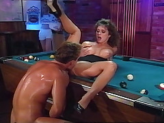 Rocco Enjoys Fucking Hot Girl On A Pool Tabke & Gives Facial