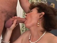 Horny Mom Sucks Cock Like Maniac And Gets A Nice Cumshot
