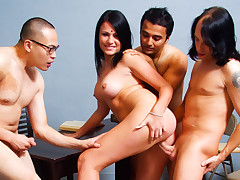 Indian Wife Pleases Her Husband & Gets Fucked By His Friends