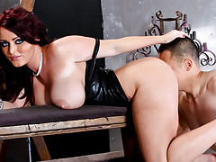 Sophie Dee has her ass eaten out by a man with an ass fetish