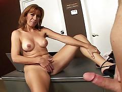 Shy MILF masturbating the pleasure of Milfman in this video