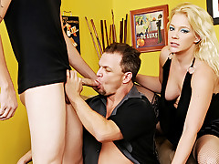 Blond's BF Likes To Suck Dick! He Wants A 3Some With A Man!