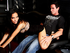 Hot Stripper Dancing On Peter North's Cock In A Limousine!