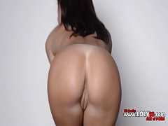 busty brunette posing pussy