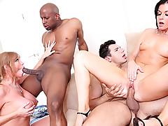 Super hot MILFs getting their still tight pussy fucked hard!