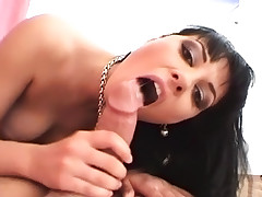 Nice Breasted Ho Receives Cock Laying On Couch