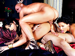 Intense roman theme orgy with 6 hot ass sluts fucking hard!