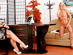 Naughty Girl Shows Her Nude Poses To Porn Star Silvia Saint