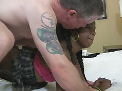Teeny Black Chicks Trying White Dicks 2