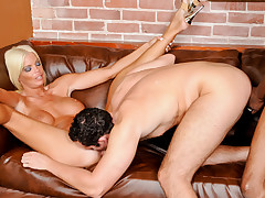 Horny blond wants to share a big black cock with her husband