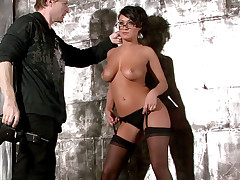 Nice interview and sexy shooting of Charley Chase on set!