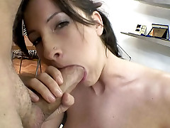 College cutie know how to handle Rocco's dick til he cums !