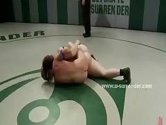 Chubby lesbian looses wrestling fight