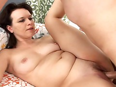 Amazingly gorgeous Milf gets her ass fucked and cream pie