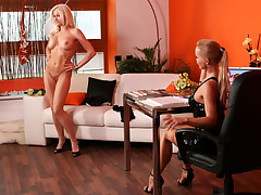 Sexy Stacy Silver Shows Big Tits To Silvia During Casting