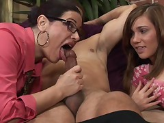 Mothers Teaching Daughters How To Suck Cock