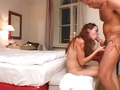 Red headed whore has this new hobby to suck huge hard dick