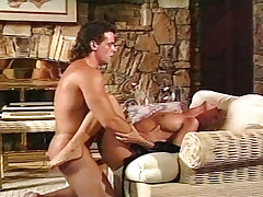 Blonde girl gets some big good cock in this vintage scene