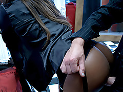 Hot Black Girl Getting Her Beautiful Butt A Huge & Hard Cock