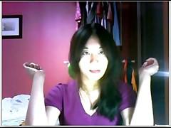 Asian Girl on Webcam