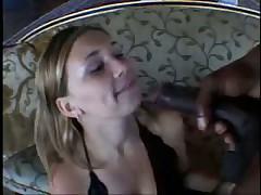 Blonde Teen takes black pipe
