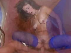 Mommy enjoys a young cock in her cunt and asshole