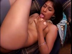 Naughty Indian Babe Mouthing Manhood