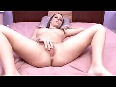 Romanian girl masturbates