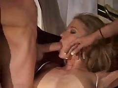 Erotic threesome scene