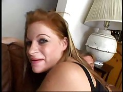 Tight redhead Scarlet tries anal