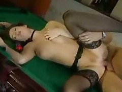 Horny Beauty Pool Table Bang