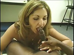 A Small-titted Jizz Sucker Goes Downtown On A Hard Dick