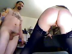 Amateur Mature round couple fuck on office chair for web