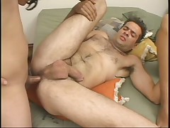 1 Dude One Whore And 1 Tranny All Bang Eachother In Bed