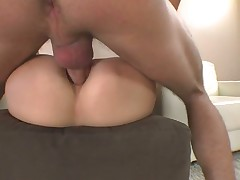 Angelica Squirms On Her Man's Throbber