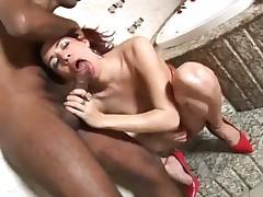 Huge Dick Tranny Slammed Up Her Asshole