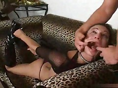 Amber Rayne brutally face fucked