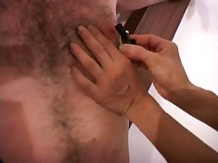 Mistress Teases Male Slave's Body