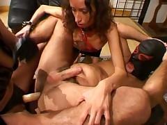 S & M Mistress Punishes Her Slaves