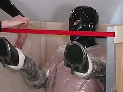 Dominatrix Punishes Her Masculine Slave