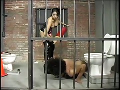 Dominatrix Mika Tan Punishes Criminal