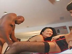 Two Sexy Asian Whores Are Pleased By A Black Dick