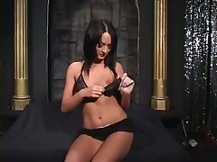 Playful Slutty Stripper Performs Sex Show