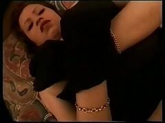 Dark hair Masturbating with Lingerie